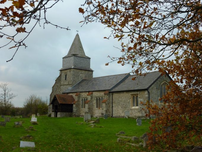 This is St Margaret's Church at the bottom of Church Lane, Bowers Gifford.