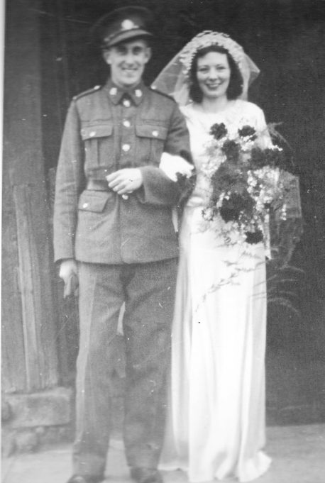 The Wedding of Joyce Turner (nee Finch) and Percy Turner at St. Mary's Church - 22nd April 1941 | Mavis Thurley (daughter)