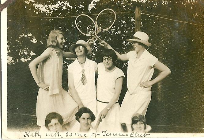 Kath Fisher with other members of the Benfleet Tennis Club