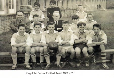 King John School Football Team 1960-61