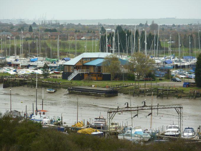 Benfleet Yacht Club taken from the Benfleet Downs 2011 | Margaret March
