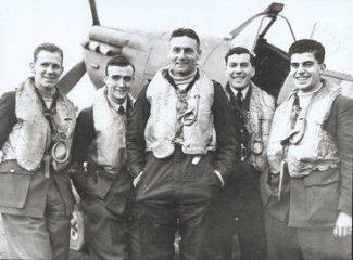 Anthony Desmond Joseph Lovell. Second from left. | RAF