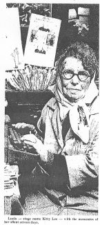 Lucia - stage name Kitty Lee - with mementos of her silent screen days. | Evening Echo 19th May 1972