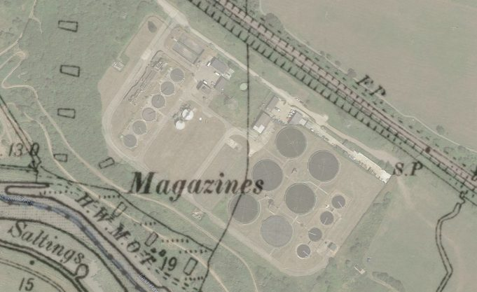 Location of Mazines from 1895 map overlaid on Google Maps | Phil Coley