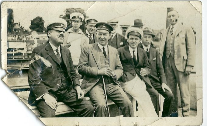 Men at the yacht club. Can you name any of these people?  Date unknown | Gilbert Wines
