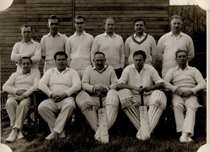 Benfleet Cricket Club Team - Back row 1st left Dennis Sipple, Front row Micky Claxton, far right Charlie Evans.. | Mave Sipple