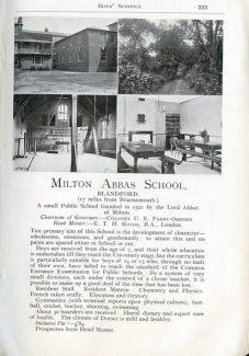 Milton Abbas Grammar School | Niall Stoddart