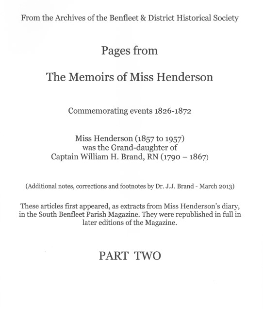 The Memoirs of Miss Henderson - Part 2