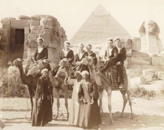 On Shore Leave in Egypt with ship mates 3rd Dec 1943. Mr Joyce is on the 1st camel on the left. | Mr Joyce's collection