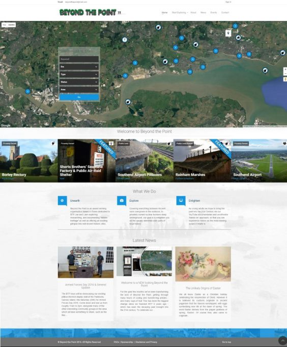 New Homepage Screenshot | BTP