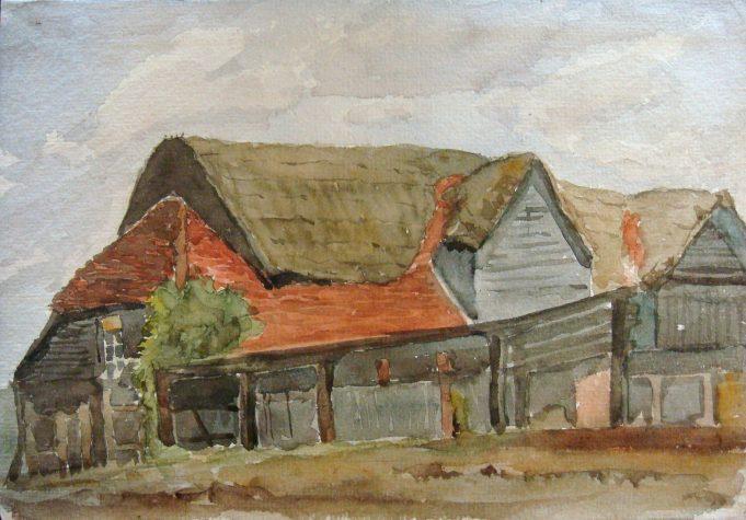 Old tithe barn, Hall Farm