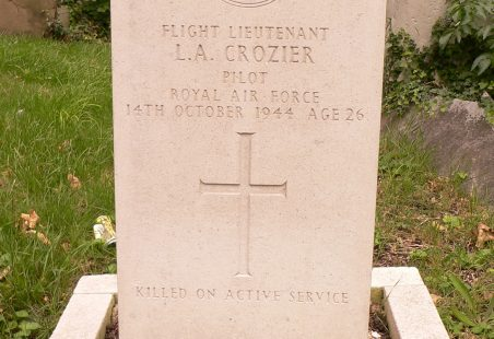 Flt. Lt. Leonard Aubrey Crozier. Pilot. No.141472. (Photograph added).