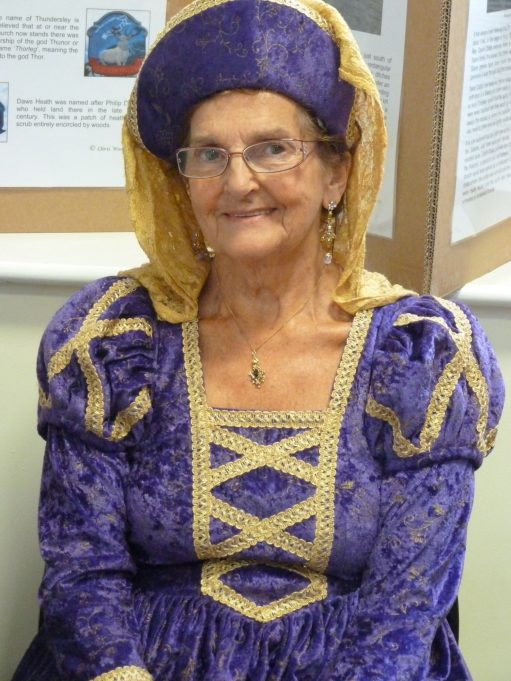 Barbara Sayer as a medieval Hadleigh lady | Phil Coley