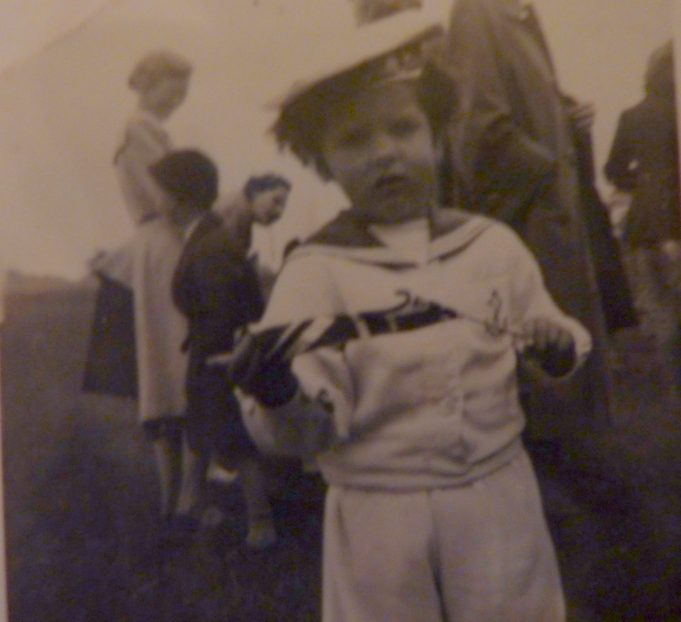 Susan Cowan age 3yrs ready for fancy dress competition complete with union jack at the coronation party. | Dave Cowan