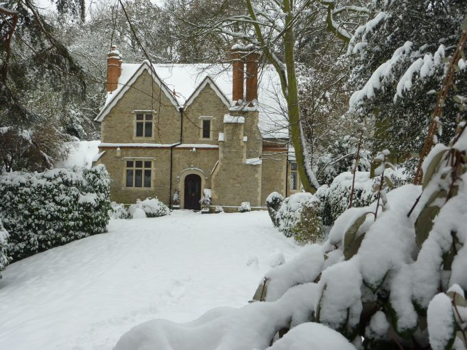 One of the houses on Vicarage Hill looking lovely in thick snow. | Margaret March