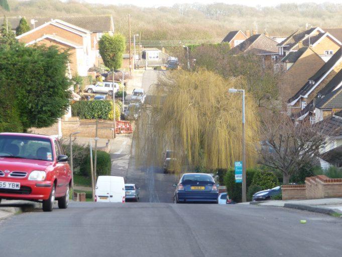 Southwell Road from Hill Road taken 2011   Eileen Gamble