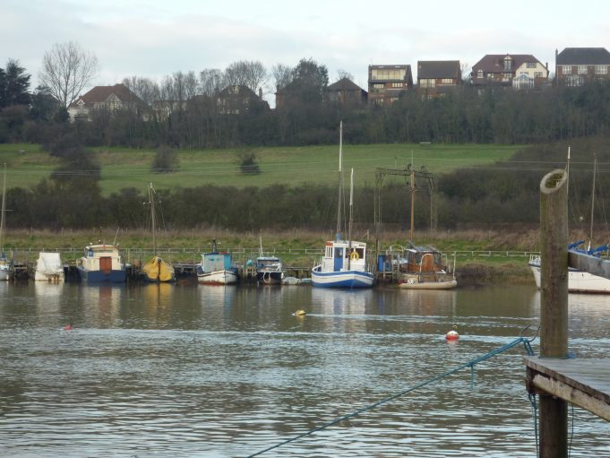 Benfleet Downs on a full tide taken from the yacht club January 2011 | Margaret March
