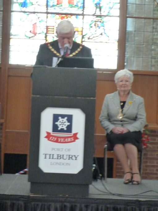Thurrock Mayor, Cllr Charles Curtis and his wife Wendy opening the Archive   Phil Coley