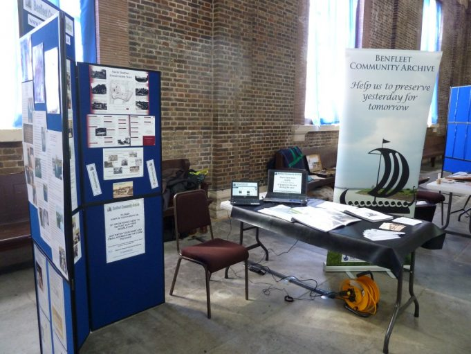Benfleet Community Archive's stand   Phil Coley
