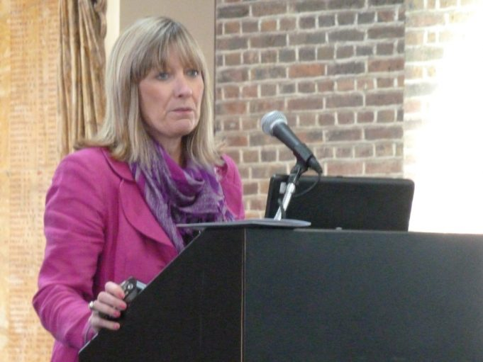 Annie O'Brien opening the Tilbury and Chadwell memories site | Phil Coley