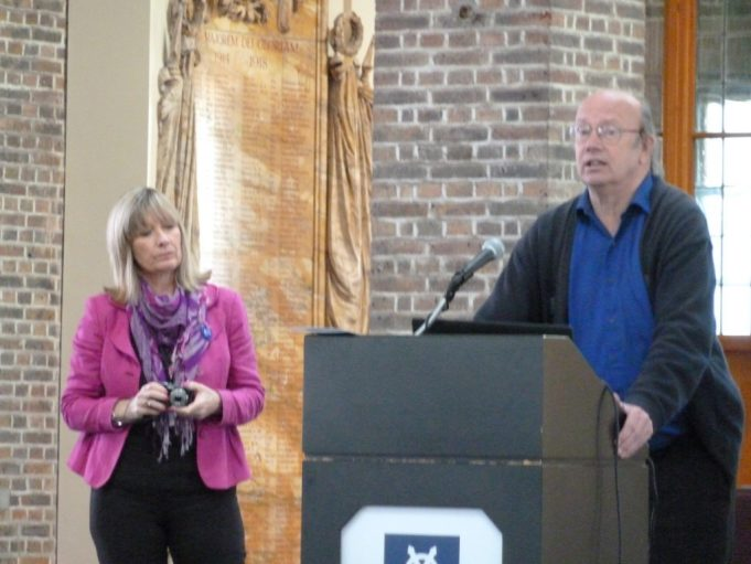 Annie O'Brien and John Matthew launching the site | Phil Coley