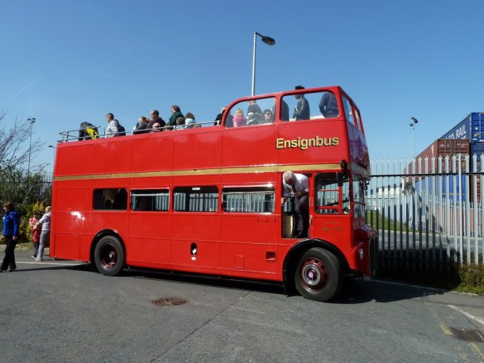 The open topped Routemaster bus used for the Tilbury Port tour.   Phil Coley