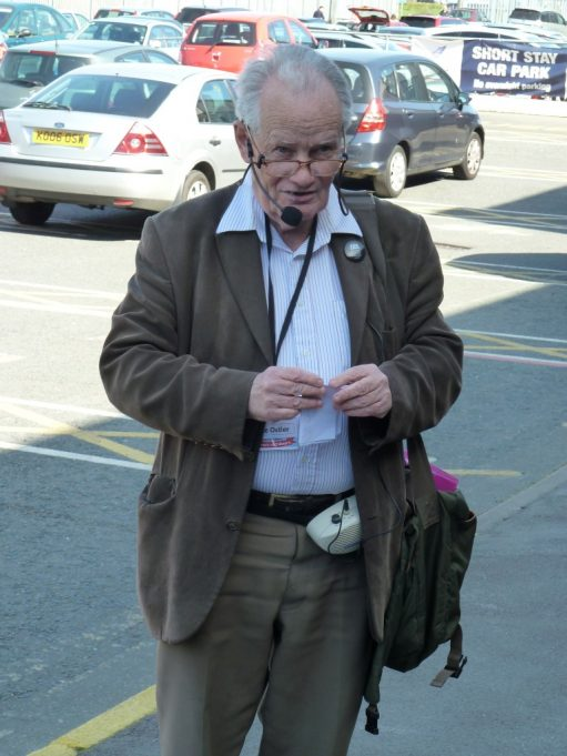 Local historian Mike Ostler delivering a talk on the walk | Phil Coley