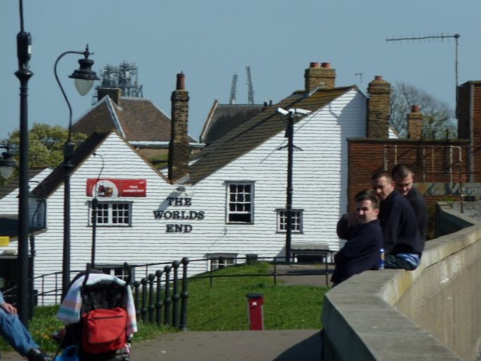Mike Ostler explained some of the history of the Worlds End pub | Phil Coley