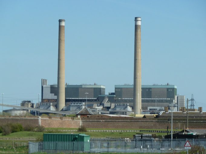 Mike Ostler explained some of the history of Tilbury Fort. The power station can be seen in the distance.   Phil Coley