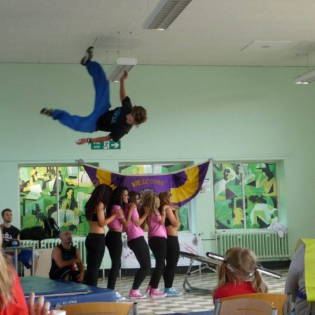 The Street Team perform acrobatics | Eileen Gamble