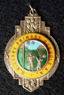Netball medal presented to Sandra in 1960 | Eileen Gamble