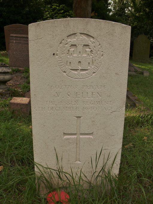 Grave of Victor Samuel Ellen.  No. 6027768.