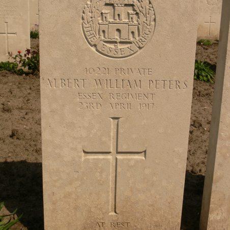 Grave of Albert William Peters. | Ronnie Pigram