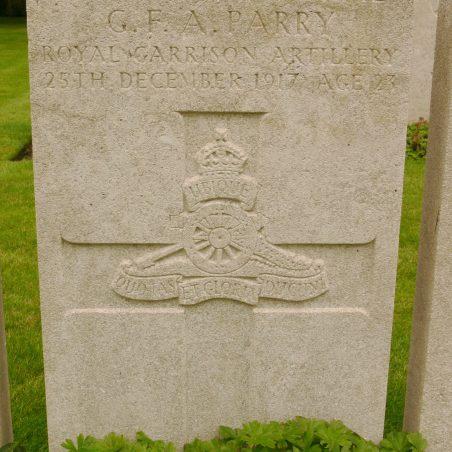 Grave of G. F. A. Parry. | Ronnie Pigram.