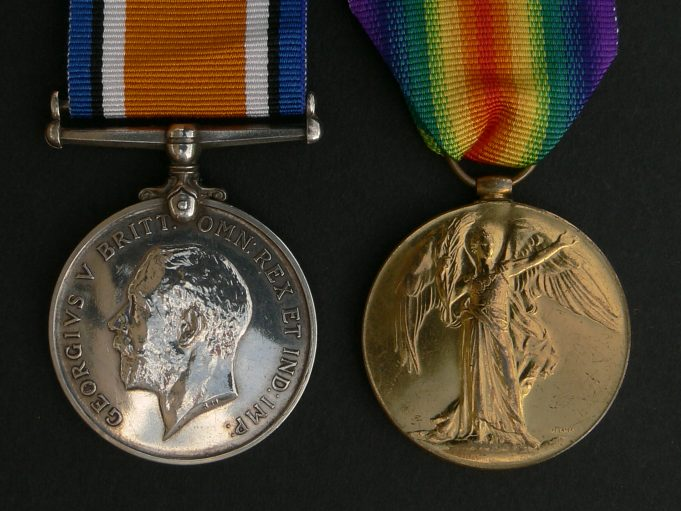 (British War Medal 1914-1918 Left)    (Victory Medal 1914-1919 Right) | Ronnie Pigram