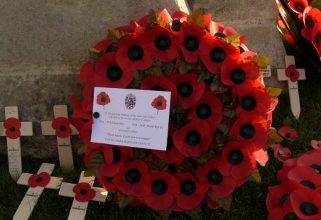 In Remembrance Memorial. 1944 Casualties.