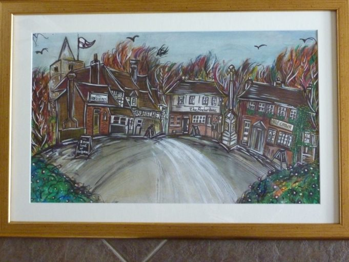 Artists fish eye view of the conservation area. | Margaret March