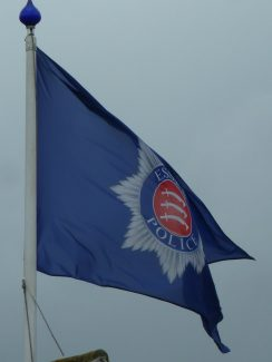 Essex Police flag flying at Benfleet Police Station 13th July 2015 | Phil Coley