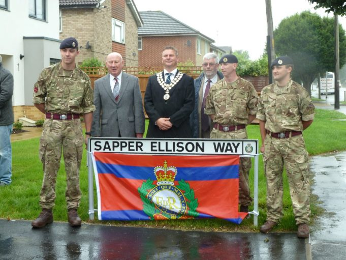 The Mayor, Len Hawkins and three members of the Royal Engineers | Phil Coley
