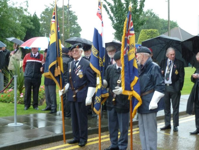 The British Legion flag party awaiting the start | Phil Coley