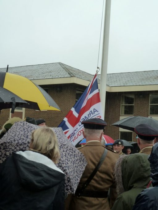The flag being raised | Phil Coley