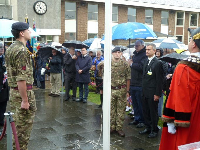 Sappers from the Royal Engineers during the minute's silence | Phil Coley