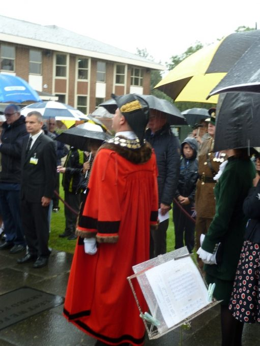 The Mayor during the minute's silence | Phil Coley