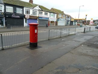 The post box after it was moved to its new location in mid-December 2016 | Phil Coley
