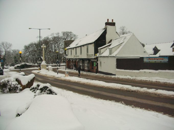View of The Anchor Pub bottom of Essex Way