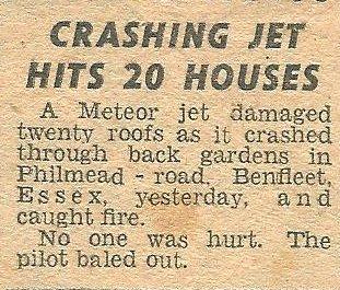 Meteor Jet Crash - Philmead Road