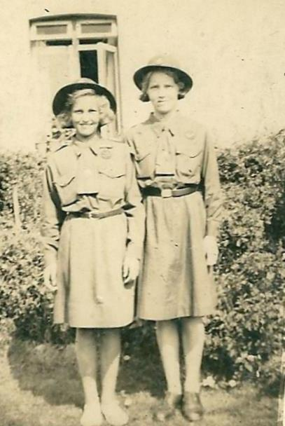 Paddy and Bobby Fisher in guides uniform | Paddy Marrison