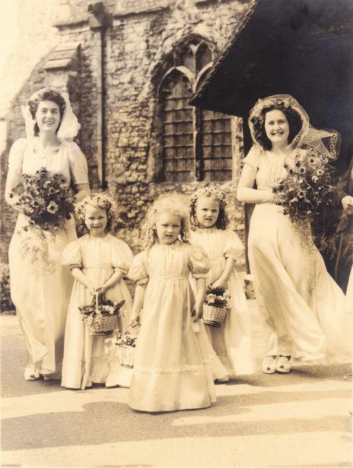 Bridesmaids - left to right: Joy Eason, June, Carol, Joan, Ruth Edwards | Denise Neale