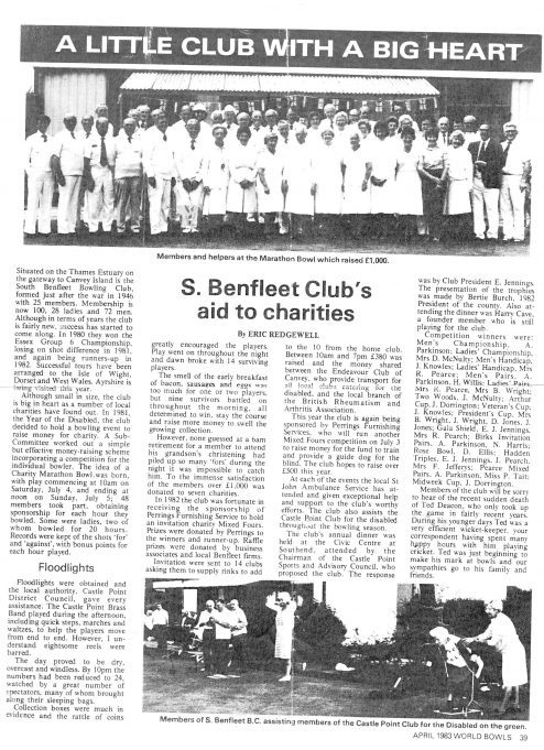 Article as published in World Bowls - April 1983 edition | Article written by Eric Redgewell