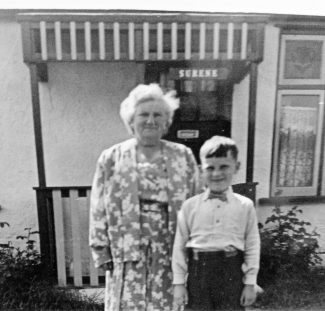 Grandmother Susan and Allan outside 'Surene' | Pamela-Jeanetta Bird Gaines